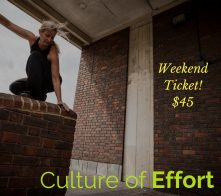 Culture of Effort weekend ticket IG
